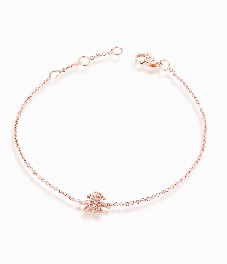 disponibile 08cbb d3bcf Bracciale LE BEBE'' Le briciole Lbb 328 Oro rosa 750 Diamanti ...