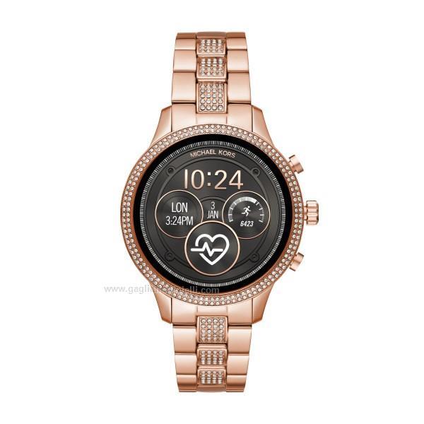 ba3fc6671a90 Orologio Smart watch MICHAEL KORS Runway Mkt5052 Acciaio rosa 41 mm ...