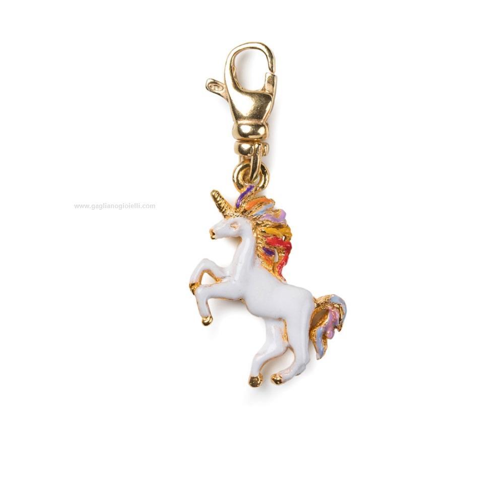 autentico 86246 0cf1a Ciondolo ISOLA BELLA Charms 20000800 charm unicorno Argento dorato Smalto  Donna - Gioielleria Gagliano