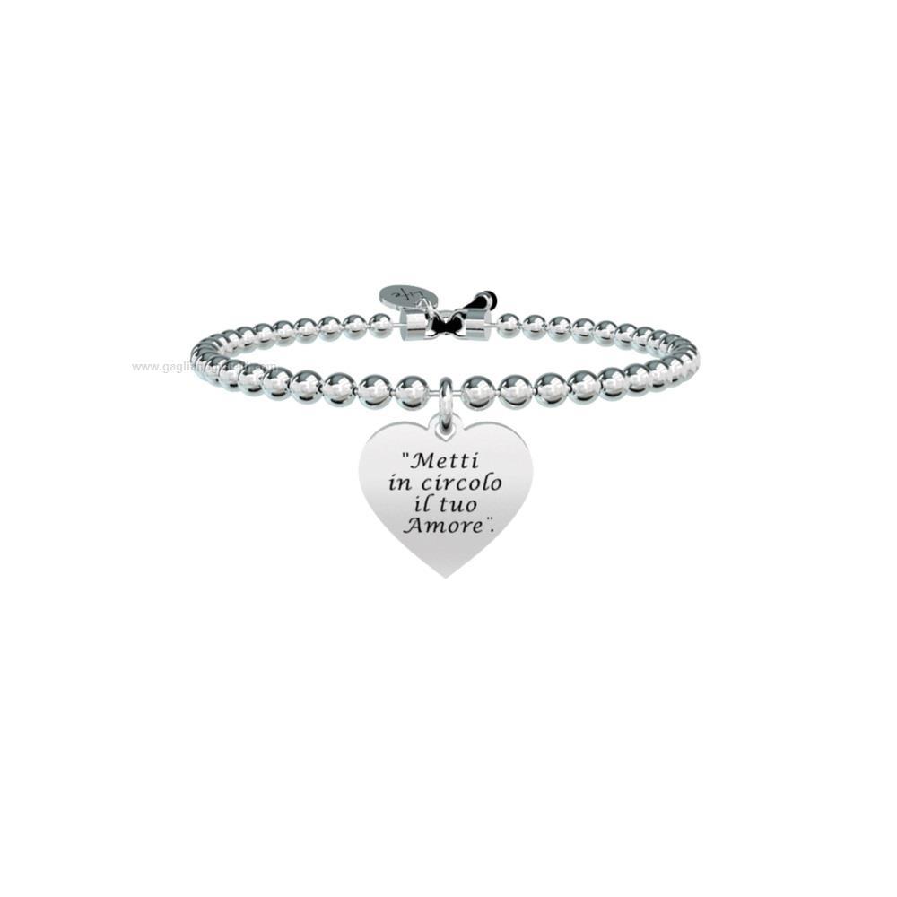 Bracciale kidult ligabue collection 731577 acciaio donna for Ligabue metti in circolo il tuo amore