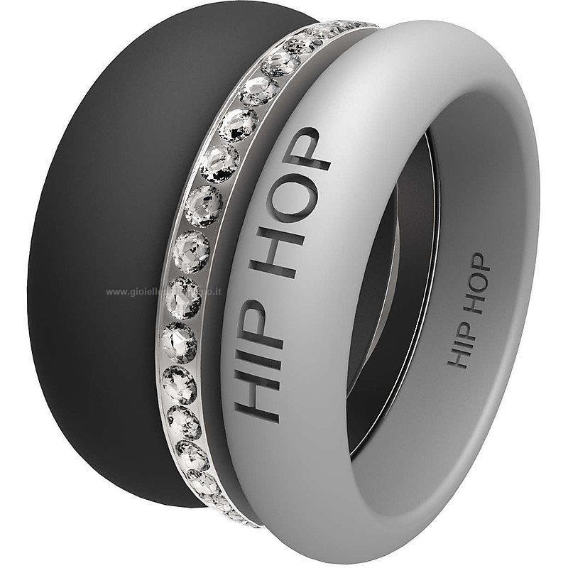 Anello Hip-hop Happy rings Hj0160 Silicone Pietre Donna ... f5d8de81125