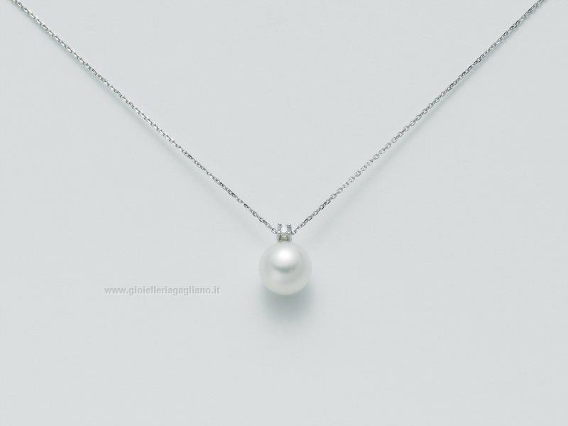 miglior sito web stili di moda goditi un grande sconto Collana Donna Miluna perle punti luce