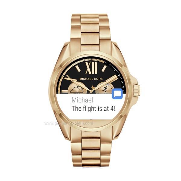 63e44f244db769 Orologio Smart watch Michael kors Bradshaw Mkt5001 Acciaio dorato 44 ...