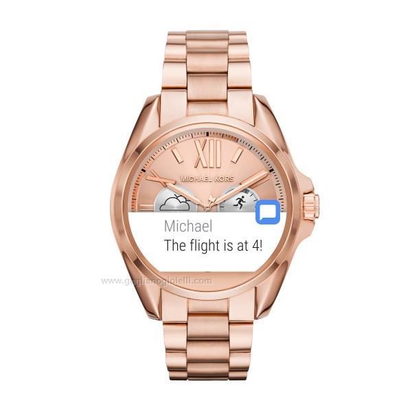 6e0d690055d3a4 Orologio Smart watch Michael kors Bradshaw Mkt5004 Acciaio rosa 44 ...