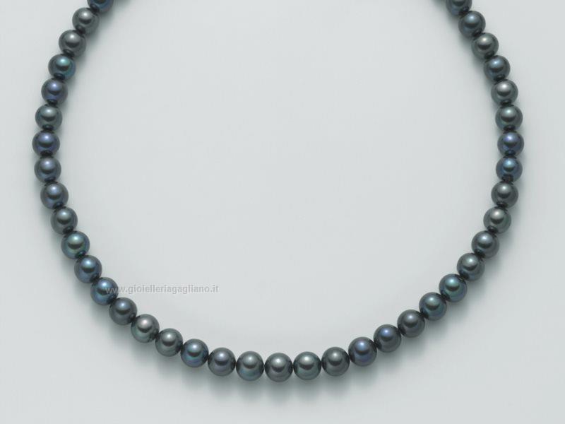 sito affidabile e31b0 f3809 Collana Donna Yukiko perle nere